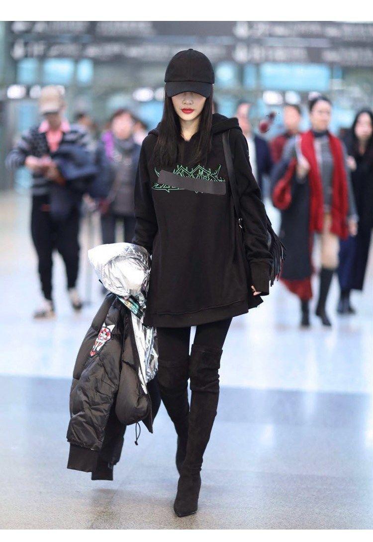 明星同款连帽卫衣女2020秋冬新款加绒加厚保暖韩版宽松卫衣外套女
