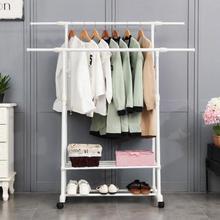 衣架臥室內創意落地伸收縮晾房間可折疊臥室1個涼曬掛衣服架子