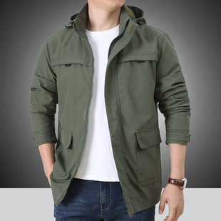 Jacket jacket men's spring and autumn thin section loose men's autumn casual middle-aged outdoor assault jacket tide 2211