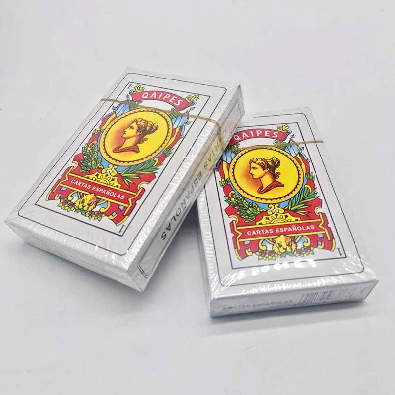 西班牙扑克  西班牙QAIPES50张大尺寸西班牙纸牌扑克 一件代发