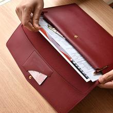 PU皮革文件袋 会议资料袋 A4大小档案袋 商务文件包 防水文件袋