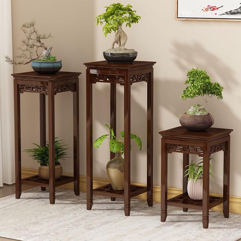 花盆架客厅落地式室内中式花架子置物架阳台实木花架仿古花架花几