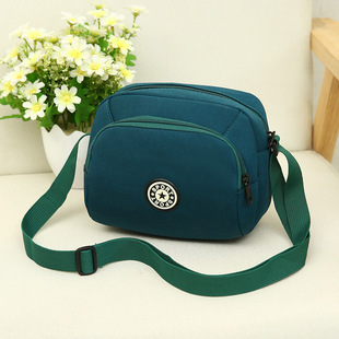 Factory direct casual nylon canvas bag middle-aged and elderly messenger bag fashion all-match one-shoulder mobile phone bag one drop