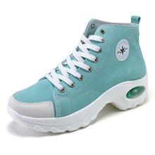 2020春夏新款跨境大码增高女鞋气垫运动鞋帆布鞋时尚休闲摇摇鞋子
