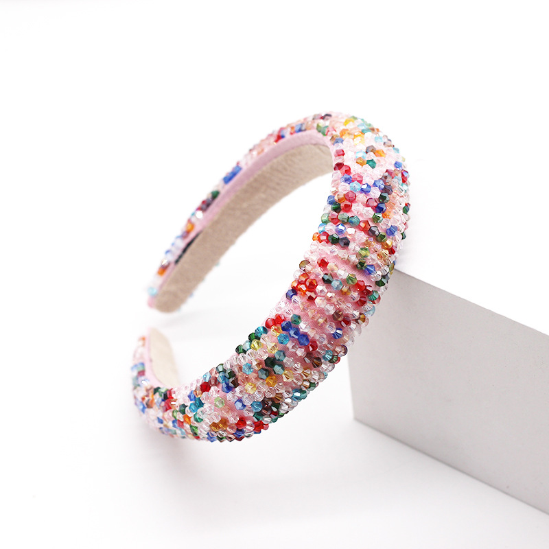 New style fashion gorgeous sponge color crystal hair accessories wholesale nihaojewelry NHWJ228108