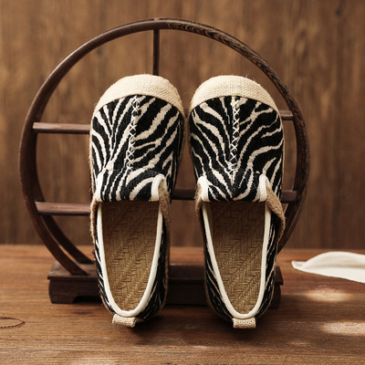 Chinese retro clothing shoes for female Embroidered shoes cotton hemp rubber soles for Women