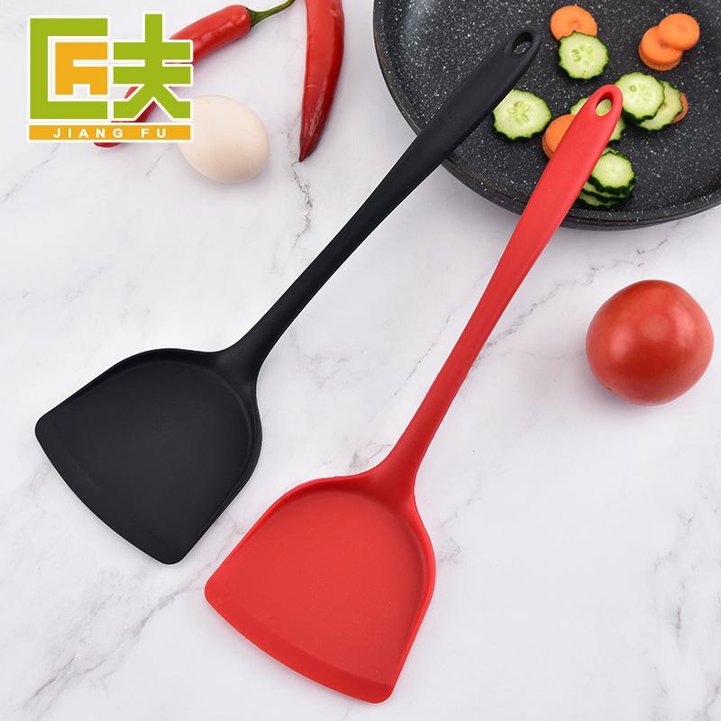 硅胶锅铲一体硅胶炒菜铲不粘锅硅胶铲中式烹饪密铲厨房工具