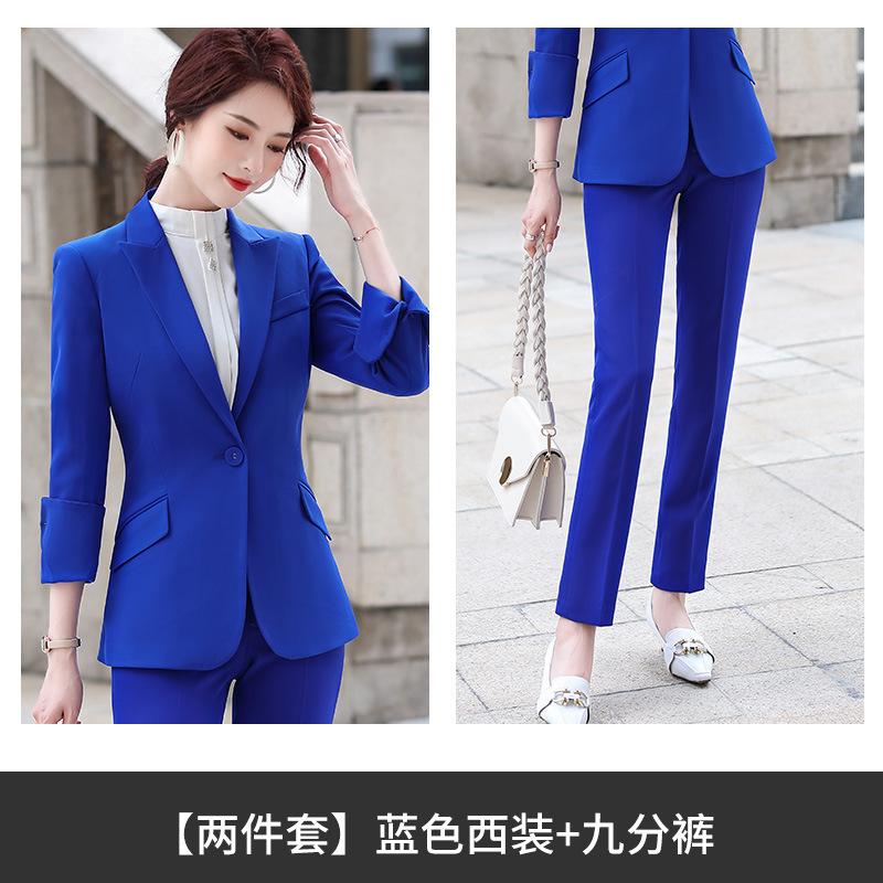 預售2020潮流時尚秋冬職業商務辦公司白領女士長袖小西裝套裝正裝