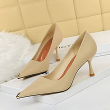 263-1 European and American Style Sexy nightclub thin metal pointed wine glass heel high heel shallow mouth simple high heel shoes single shoes
