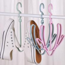 防風雙鉤陽臺曬鞋架多功能掛鞋子的晾鞋架掛鉤晾鞋架子晾曬架