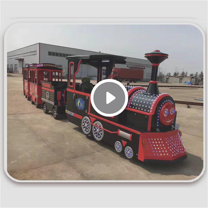 无轨小火车定制吉米厂家直销户外游乐设备24座电动车观光游览设备
