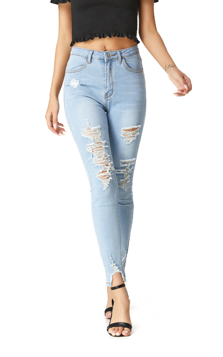 stretch high waist slim fit jeans  NSSY9864
