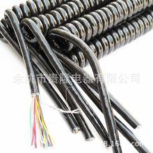 供应多心弹簧 电源线 1/8 心弹簧线 绕包 编织线弹弓线