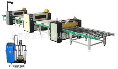 上海石膏板三合板贴面机 防火板贴面机 石膏板贴面机 PUR贴面机
