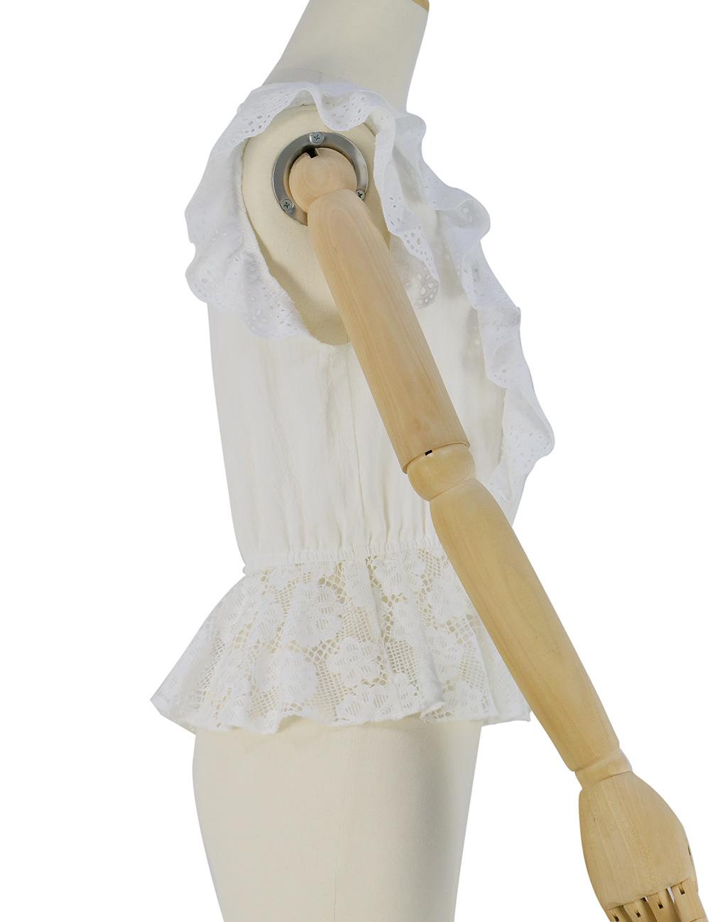 Sexy Sheer Short Top Ruffle Lace Shirt New Women Wholesale NHDF204864