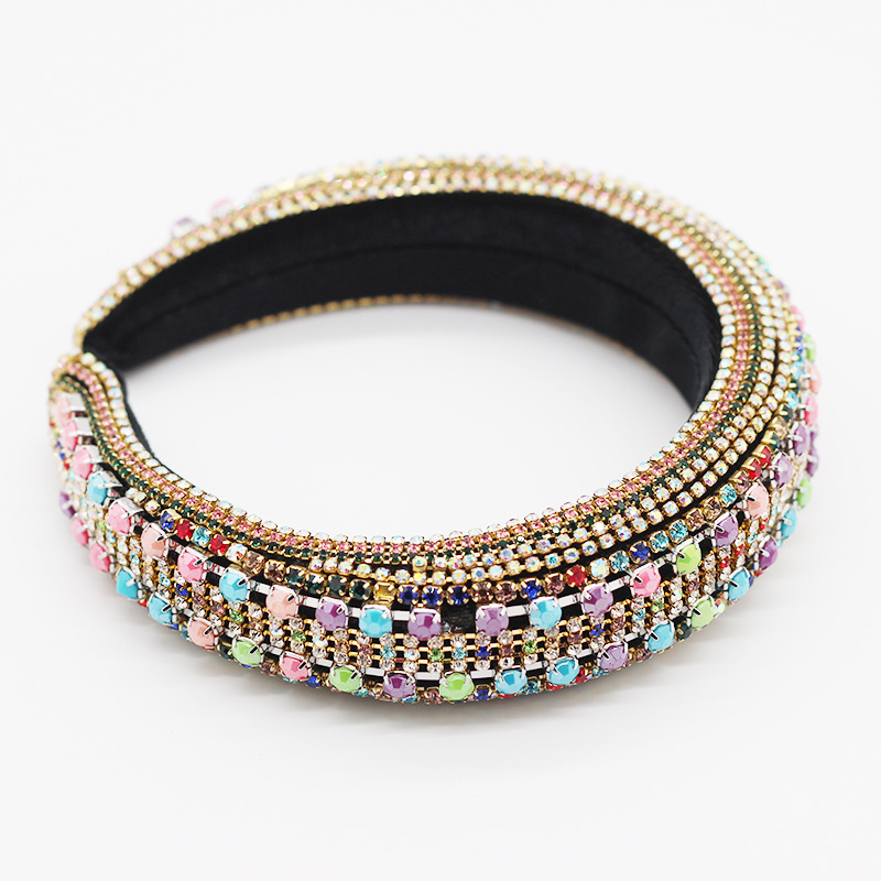 New fashion baroque full diamond color cheap headband wholesale NHWJ211351