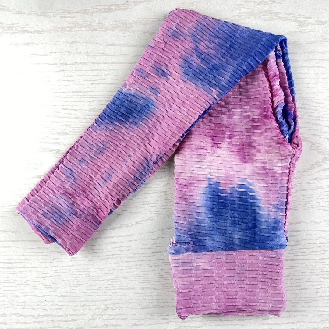 stitching tie-dye one-piece sling yoga clothes  NSLX9003