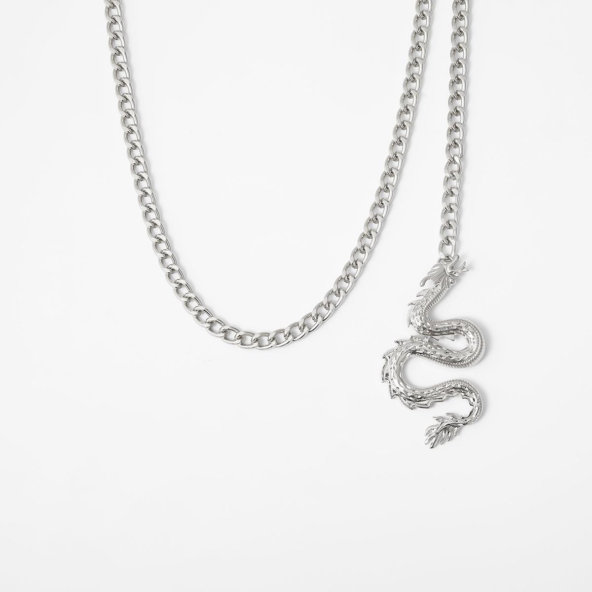 Personalized casual wild three-dimensional zodiac dragon waist chain NHXR192413