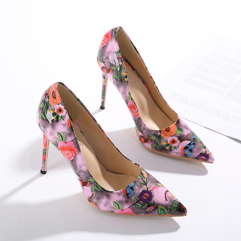high-heeled pointed shallow mouth shoes NHSO284300