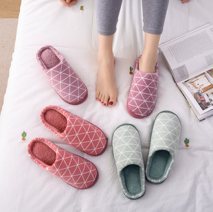 2020 new cotton slippers female winter couple slippers household home thick bottom non-slip wear-resistant indoor men's warm cotton