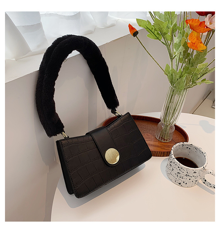 new trend high-quality stone pattern  baguette underarm bag NHJZ270438