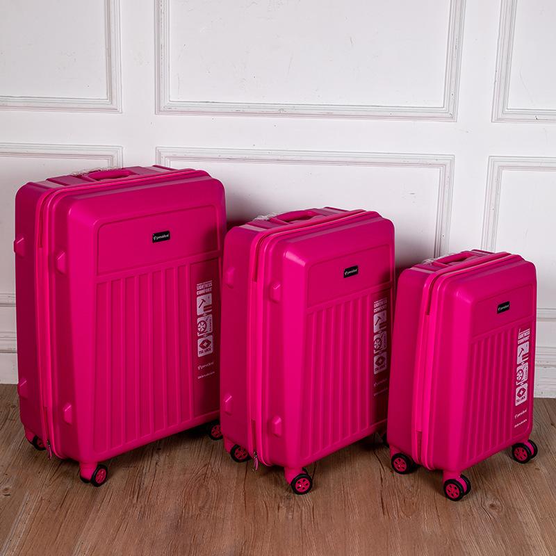 华欧出口 优质PP拉杆箱20 24寸学生登机箱高端旅游行李箱定制LOGO
