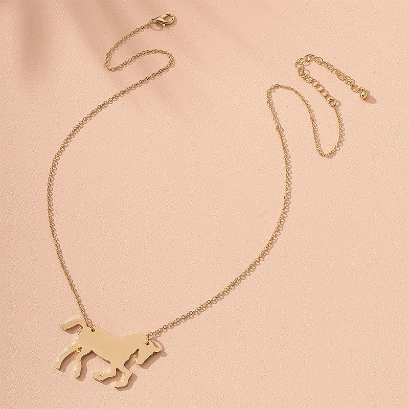 Fashion loveshaped horse key banana simple alloy necklace for women hot sale wholesale  NHAI241773