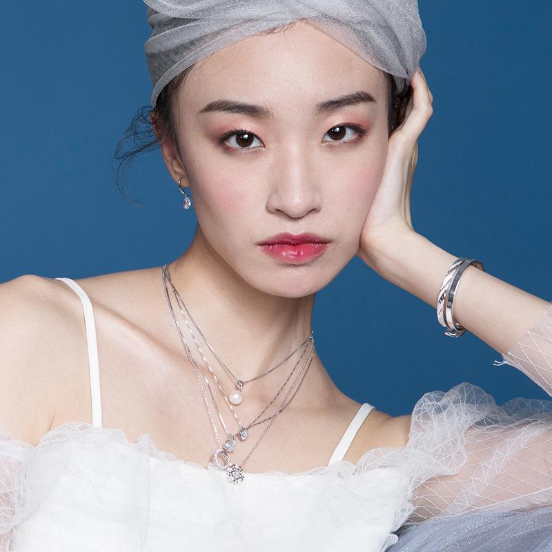 枫叶情银耳环银项链简约银手链银戒指纯银时尚手镯闺蜜款银耳钉
