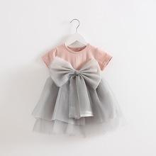 新女宝宝夏装5个月婴幼儿童装女小童短袖公主连衣裙子0-1-2-3周岁