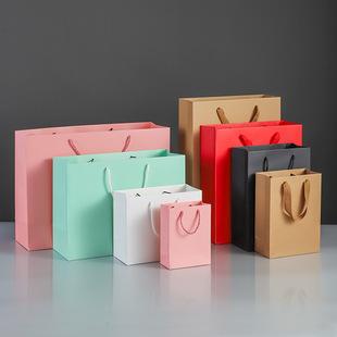 Tote bag kraft paper bag custom christmas packaging gift bag gift clothing store clothes women's clothing custom printed logo
