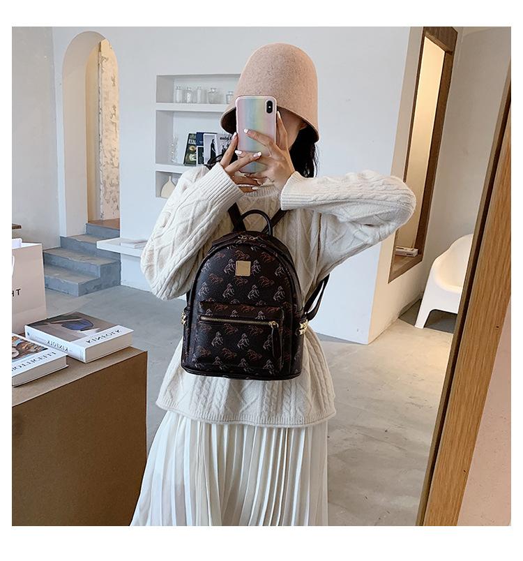 Multi-purpose mini backpack new fashion printing small backpack shoulder messenger bag wholesale NHJZ249418