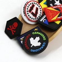 帽子服飾配飾 滴塑標皮標環保pvc軟膠章 LOGO設計定制