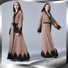 时尚刺绣长袍土耳其休闲开衫伊斯兰长款开衫连衣裙 1545