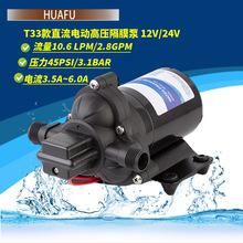33款房车水泵12V24V直流电动往复泵抽水泵小型隔膜自吸三腔增压泵