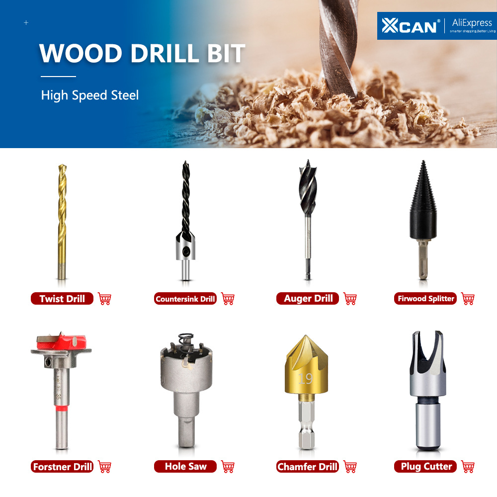 Yadianna Hex Shank Five Grooved Edge Chamfering Chamfering 90 /° Chamfering Drill Woodworking Countersink Hole 6 Sets Industrial cutting accessories