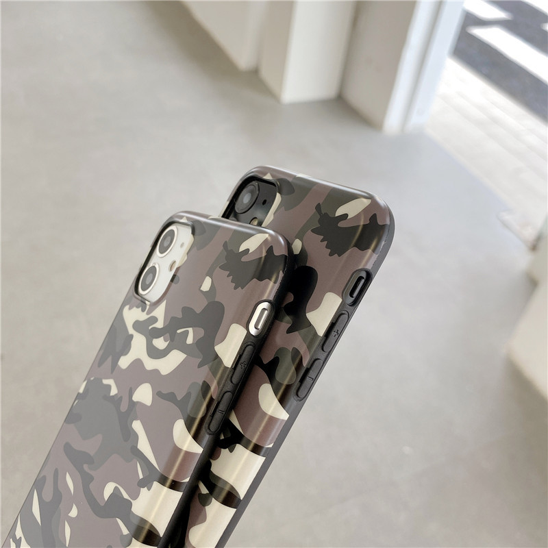 camouflage mobile phone case for iphone7 8p XR soft shell wholesale NHFI256832