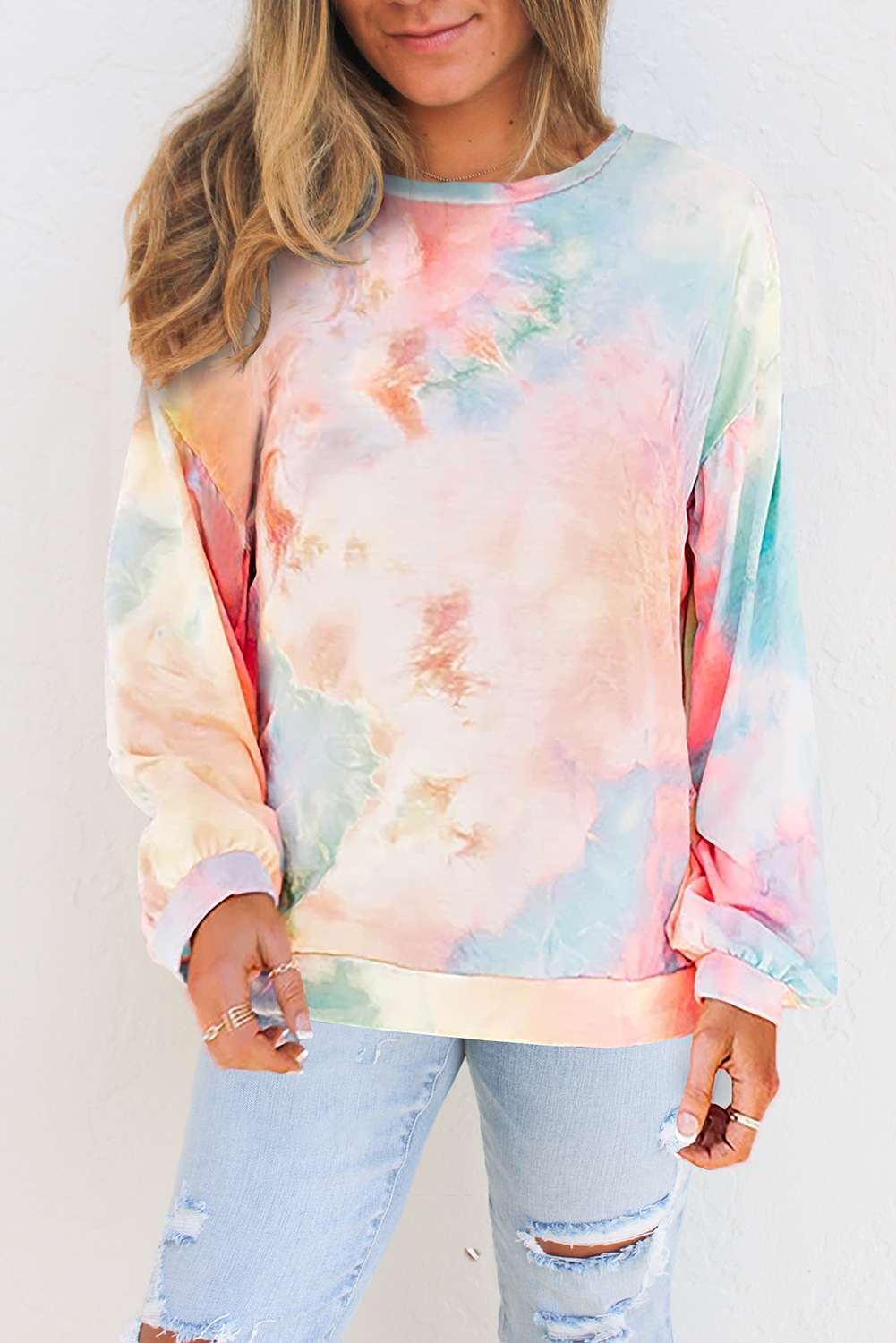 autumn new loose casual literal printing long-sleeved round neck ladies sweater NSSI2466