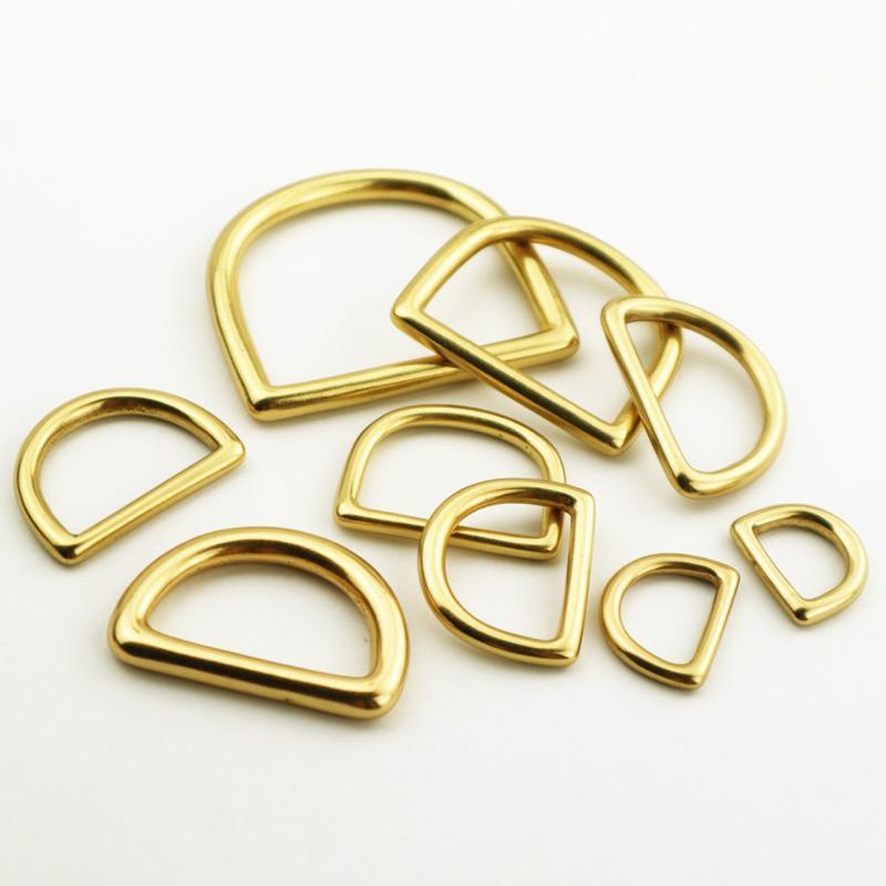 皮雕皮藝包包手袋五金配件D字扣方D圈D環方環純銅金屬16mm至50mm
