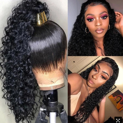 Curly Hair Wigs Parrucche per capelli ricci Matte high temperature African small curl explosive head long curly synthetic wigs wig