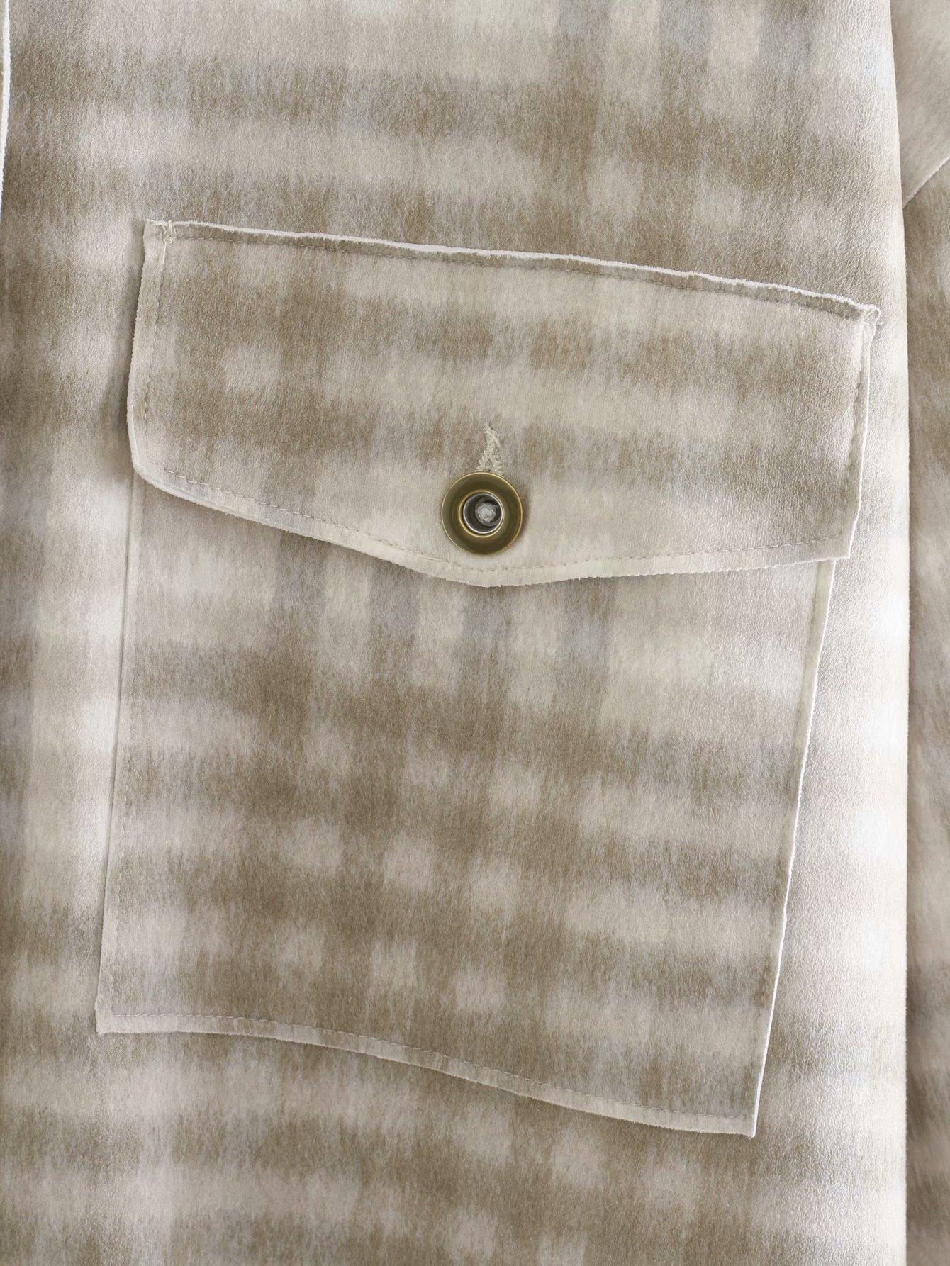 wholesale autumn women's plaid loose casual shirt jacket NSAM4250