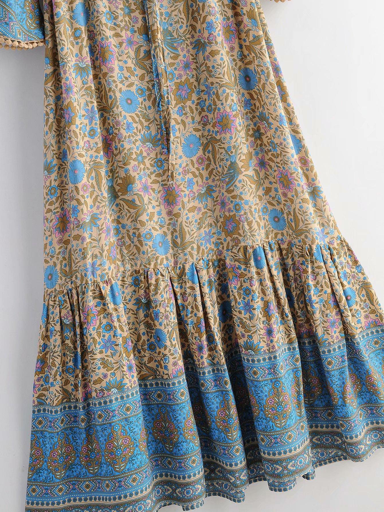 Fashion women 'dress wholesale printed vacation beach dress NHAM201586