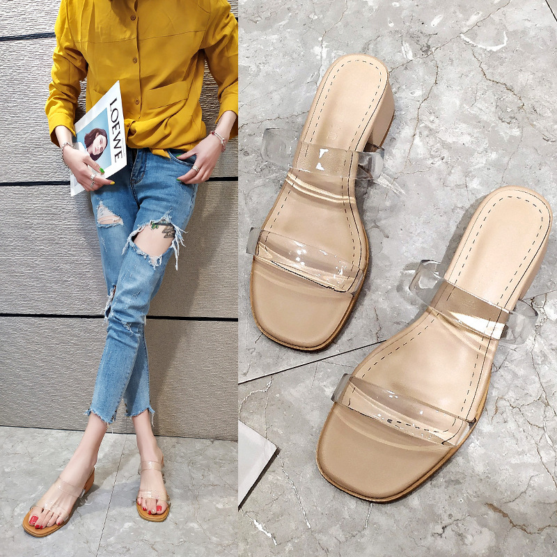 Slippers women's outer wear shoes fashio...