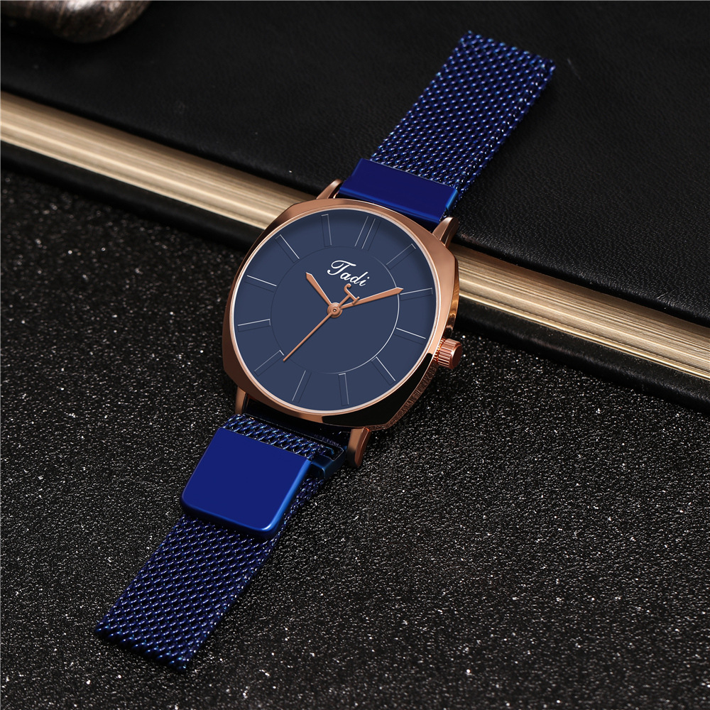 New Women's Watches Fashion Square Case Multicolor Lite Magnet Quartz Watch NHHK207061