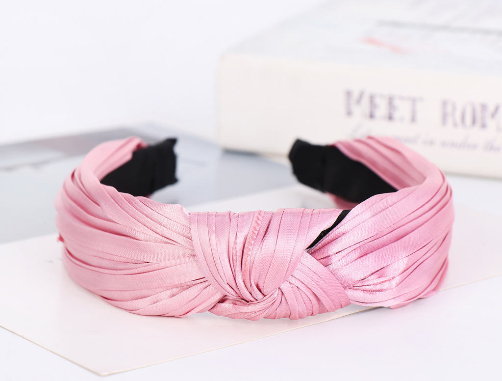 Knotted Wrinkled Headband Pure Color Wrinkled Headband suppliers china NHHV202534
