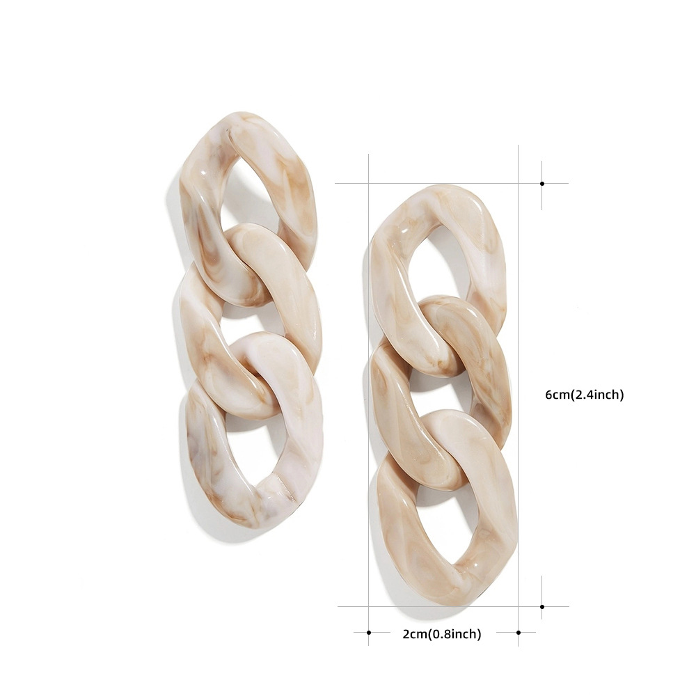 Exaggerated buckle multilayer vintage acetate plate earrings bohemian earrings NHLL203576