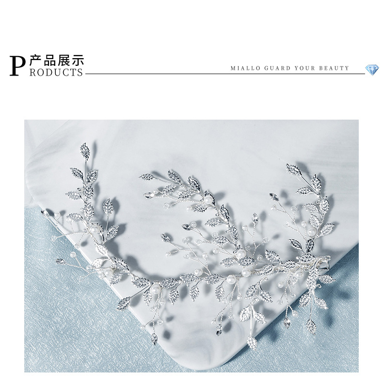new pearl hair clip Japanese and Korean Department of hair accessories handmade side clip  wholesale nihaojewelry NHHS221415
