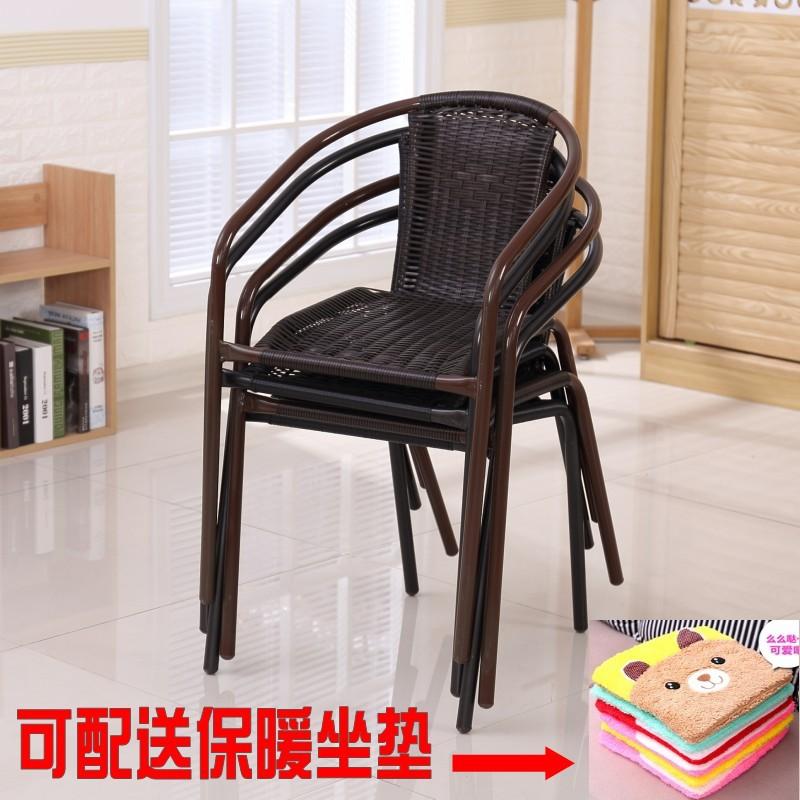 包邮藤椅户外休闲靠背椅成人家用办公电脑椅餐椅凳子躺椅手工编织