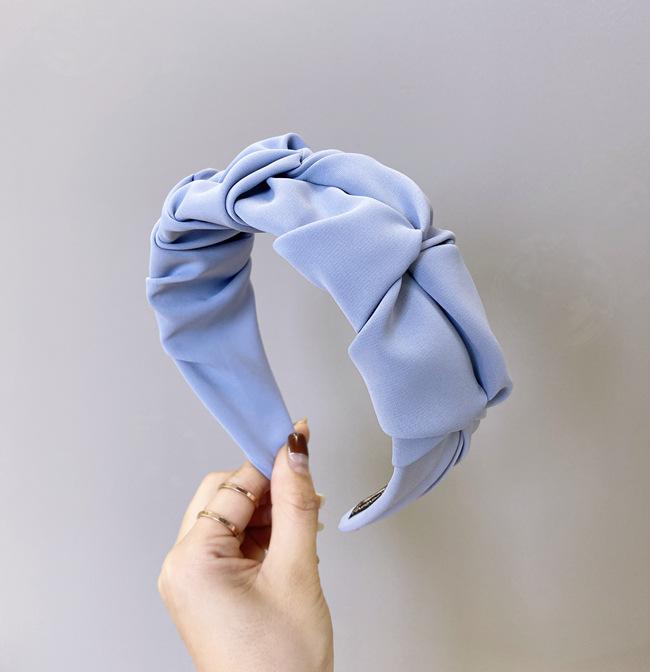 Coren pli bandeau bonbons couleur unie bord large nou visage lavage bandeau simple trou de cheveux bandeau en gros nihaojewelry NHSM222230