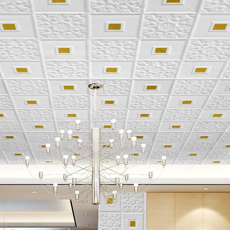 自粘墙贴软包泡沫壁纸客厅天花板吊顶电视背景墙纸大气立体3D贴纸