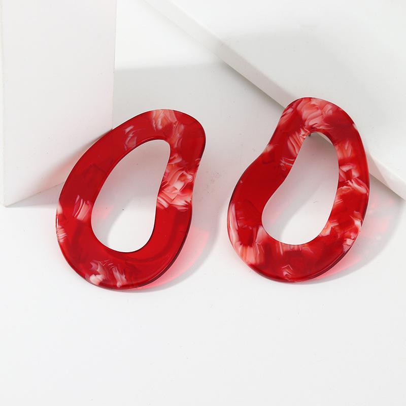 Fashionable temperament irregular acrylic acetate earrings exaggerated earrings NHNZ199127